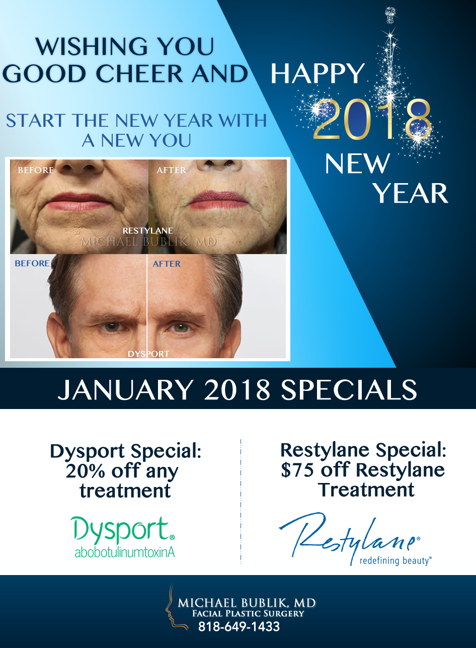 New Years 2018 Special Dr. Michael Bublik Glendale, Beverly Hills